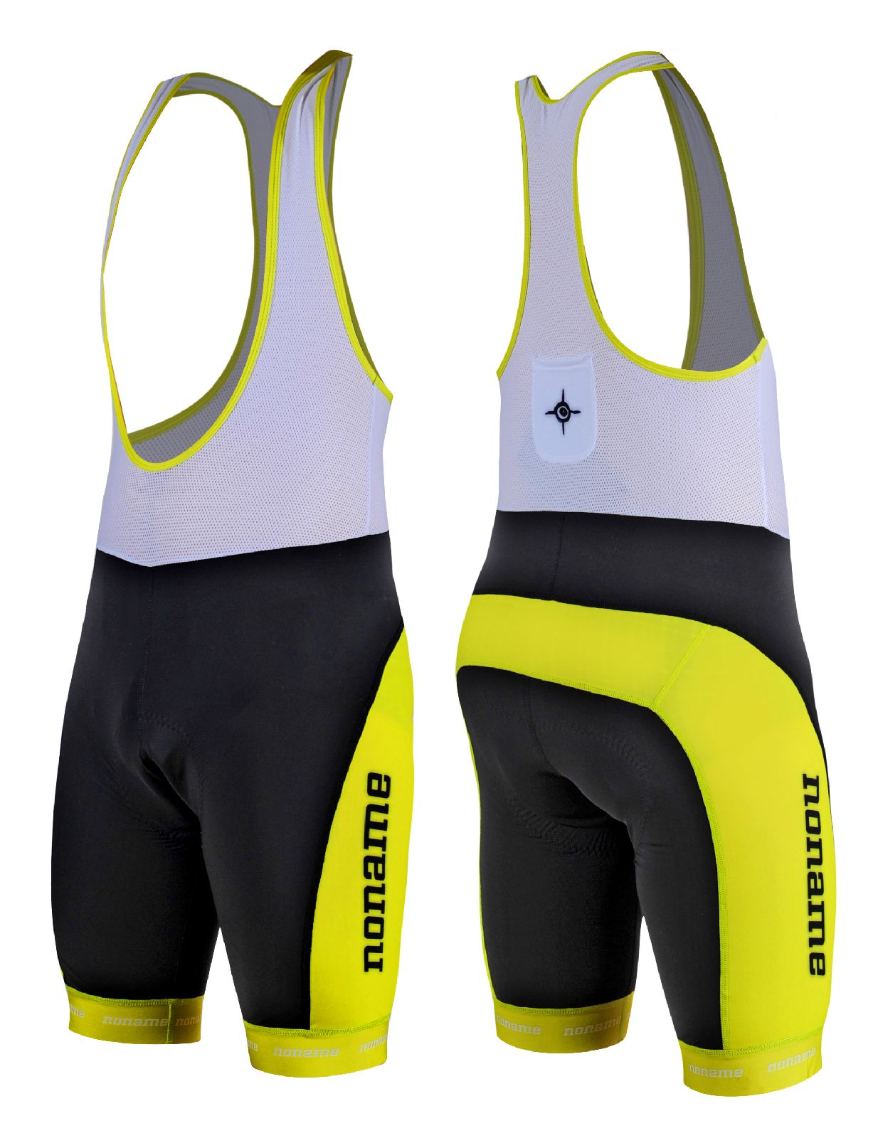 noname bicycle suit short black lime